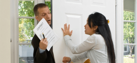 SHOULD CUSTOMER DOOR KNOCKING BE OUTLAWED