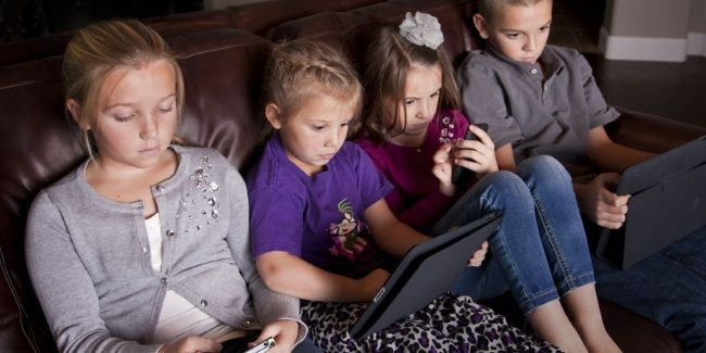 CHILDREN SPENDING WAY TOO MUCH TIME IN FRONT OF A SCREEN