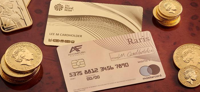 UK's Royal Mint Launches A $23,000 18-Karat Raris Gold Debit Card for Rich Shoppers
